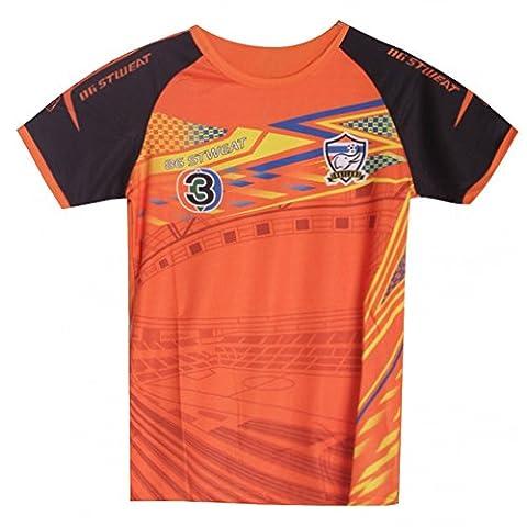 Fashion - Maillot de foot Thailande orange fluo enfant Taille de 4 à 14 ans - 4 ans