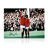 Manchester United-Foto von Denis Law unterzeichnet: Mit George Best