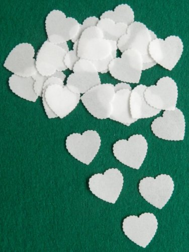 White Paper Cups (36 X HEARTS EDIBLE WAFER / RICE PAPER CUP CAKE TOPPERS PARTY WEDDING BIRTHDAY DECORATION 3 (White) by Mothers Day)