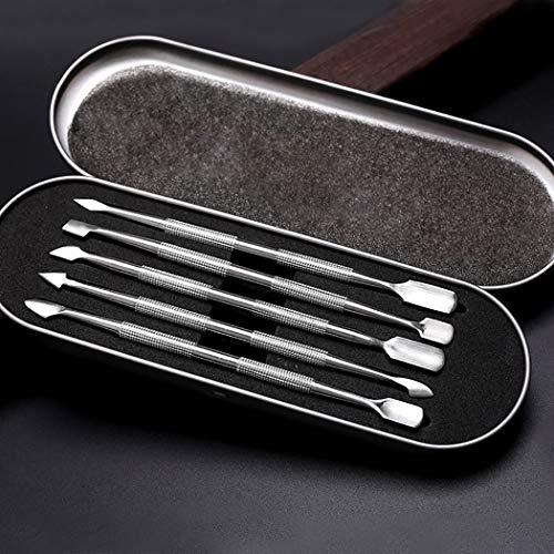 Pousseur à cuticules, Kapmore 5PCS en acier inoxydable Décapant à cuticules Trousse d'outils pour enlever les ongles