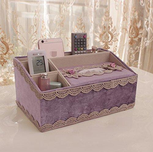 ZZSIccc Scatola del tessuto multifunzionale europeo soggiorno creativo vassoio di casa tavolino scatola di immagazzinaggio semplice scatola di pompaggio di carta, A5