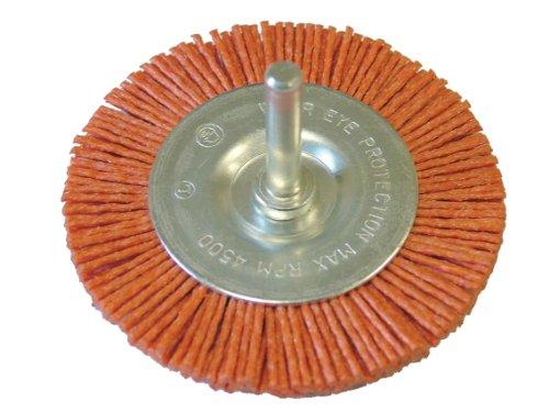 Faithfull Brosse circulaire sur tige Nylon 100 x 6 mm