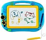 Miss EEDAN Lavagna Tavola da Disegno Magnetica Scarabocchio Giochi per Bambini Blocco per Scrivere Schizzi Regalo per Bambine Bambini Ragazzi Formato Viaggio (Blu)