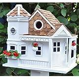 Garden Bazaar Hb-9092Sea Cliff Cottage Bird House–Blanc
