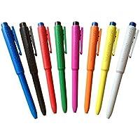 Maya Professional Tools J800-2/2 Bolígrafo Detectable por Metales y Rayos X, Tinta Normal, con Clip, 25 Unidades, Cuerpo Azul, Tinta Azul
