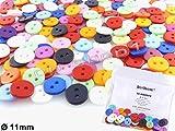50 Knöpfe aus Kunststoff - Bunter-Mix - Ø 11 mm [4.1-11]
