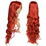 Ag Ptek 33 Inch Heat Resistant Curly Wavy Long Cosplay Wigs Red