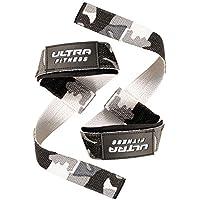 Correas para levantamiento de pesas Ultra Fitness® - acolchadas con silicona, 2 unidades, para entrenamientos de culturismo, camouflage, talla única