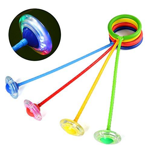 myfei Funny Elastic LED Jumping Ball, Glowing Dance Jump Ball Kinder Fitness Spielzeug, Zufällige Farbe (Truck-box-tank)