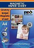 PPD Inkjet magnetisches Papier, glänzend, DIN A4, 5 Blatt