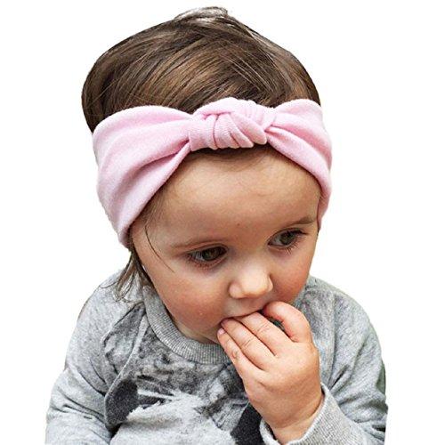 Yistu 9* Bebé niño lindo diadema turbante nudo conejo diadema sombrero