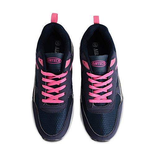 Airtech , Chaussures de running pour homme Noir noir Navy / Pink (Legacy)