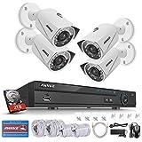 ANNKE 8CH 1080P Überwachungskamera Set,5.0MP POE NVR Rekorder mit 2TB Festplatte plus 4 x 2.0MP IP Überwachungskamera,IP67 POE Kamera,Nachtsicht,Bewegungserkennung,P2P Fernzugriff