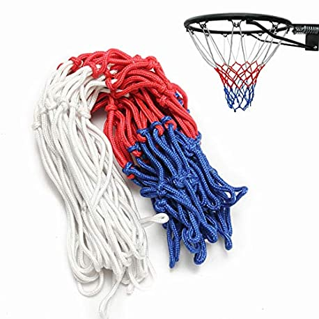 Slimerence Red de Repuesto para Baloncesto Red de Baloncesto Rojo Blanco Azul Nailon para Uso est ndar en Interiores o Exteri