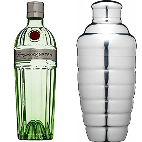 Tanqueray No. TEN Gin and Kitchen Craft Stainless Steel Cocktail Shaker
