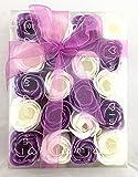 Rosas de jabón en paquete de regalo. Pack de rosas de varios colores....