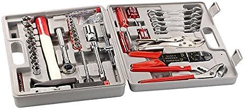 AGT Werkzeugkästen: Werkzeugset im Koffer WZK-502, 50-teilig (Werkzeugsortiment)