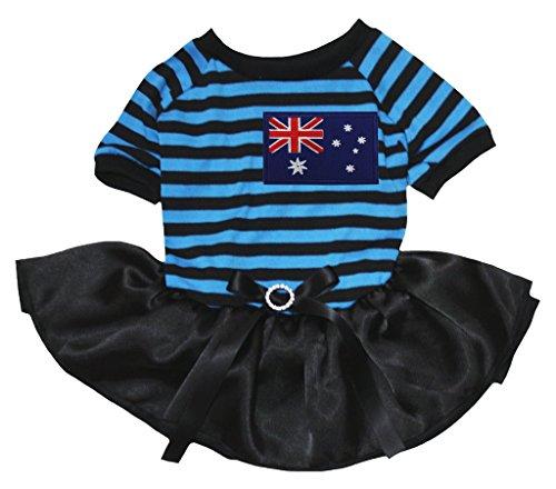 eidung Kleid Australien Flagge Blau Schwarz Streifen Top Schwarz Tutu (Tutus Australien)