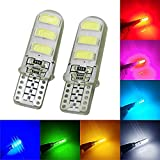 #6: T10 RED Color 6 SMD Silicone LED Bulbs For Car OR Bike Parking Light.