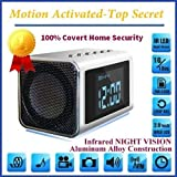 Motion activated TOP Secret Spycamera with invisible IR lights, automatic IR, constant record and battery backup power 3-4 hours.