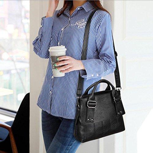 Frauen-beiläufige Handtasche PU-Schulter-Kurier-Beutel Lightblue