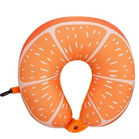 Fruit U Oreiller en forme de coussin Nanoparticules Neck Pillow voiture Oreiller Voyage Bureau-Orange