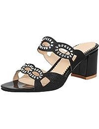 Amazon.es  Zapatos Tacon Ancho - 46   Sandalias de vestir   Zapatos ... 261811d32f38