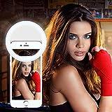 Selfie Ring Light,MindKoo 36 LED Ring Selfie Light Supplementary Lighting Night Selfie with 3 Lighting Modes for Any Smartphones - White