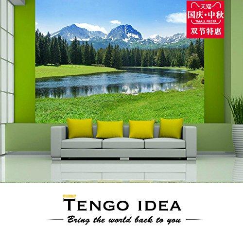 Poowef 3d wallpaper lo studio intero lau erba verde hyun off divano sfondo tema floreale murali personalizzate living room bedroom wallpaper