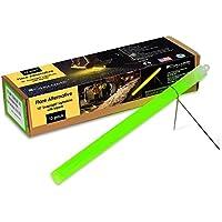 Cyalume - Paquete de 40 tubos luminosos SnapLight Flare Alternative 25 cm, 10 pulgadas, 2 horas, color verde