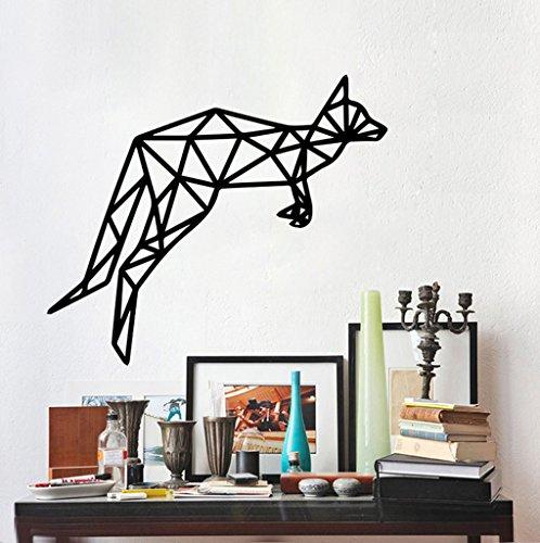 Aoligei Geometrische Kunst Känguru kindliche Wandaufkleber 60 * 40cm