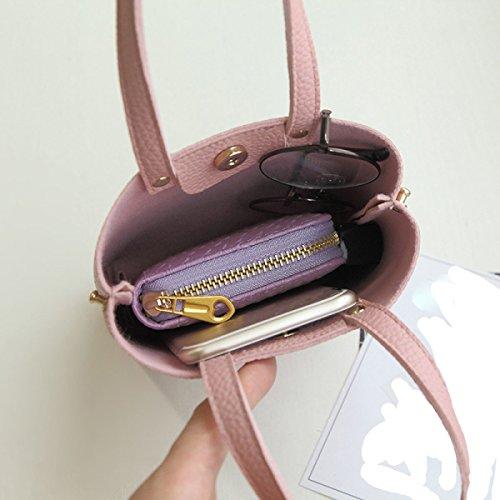 Umhängetasche Frauen Multi-Taschen-Geldbeutel-Beutel-Spielraum-Schulter-Handtaschen Grey