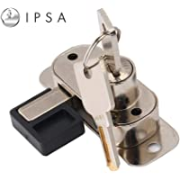 IPSA Sliding Lock for Wooden Wardrobe Door with High Security Computer Key Wood Thickness Support 15 MM