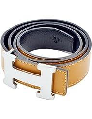 H-Stil unisex Ledergürtel(3.8CM Breite)