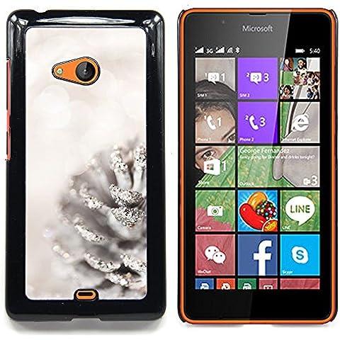 For Nokia Lumia 540 Case , Blanca Acorn Glitter Nieve Navidad