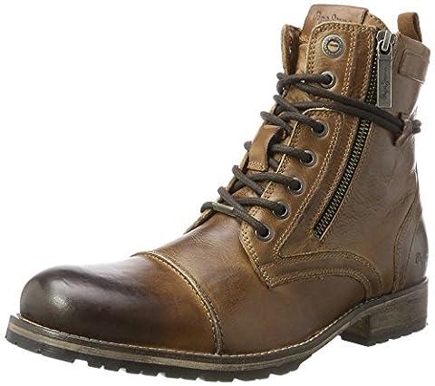 Pepe Jeans London Men's Melting Zipper New Classic Boots, Brown (Tan), 8 8 UK