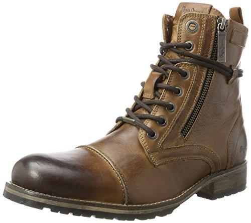 Pepe Jeans London Melting Zipper New, Botas Desert para Hombre, Tan 869, 45 EU
