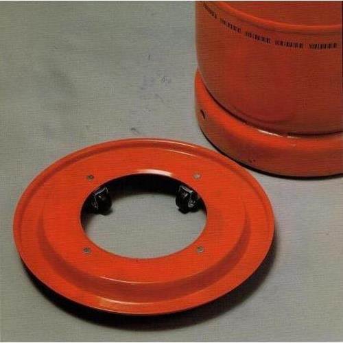 Broncinox 10118 Com Gas 10118-Soporte metálico bombona, Ruedas, Metal, 30x4x30 cm