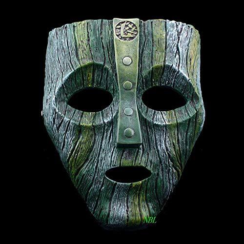 Feuer Kostüm Gott - XDDXIAO Cameron Diaz Loki Halloween Harz Masken Jim Carrey Venezianische Maske Der Gott des Unfugs Maskerade Replik Cosplay Kostüm Requisiten,Grün