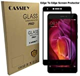 #3: Cassiey 3D Edge To Edge Full Front Body Cover Tempered Full Glass Screen Protector Guard For Xiaomi Redmi Note 4 ,Black