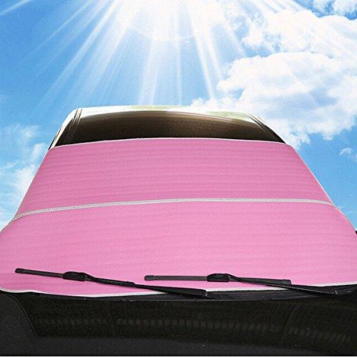 WINOMO Auto Windschutzscheibe Sonnenschutz Frontscheibe Visiere Schutzschilde (rosa)