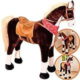 Großes XXL Standpferd Liana mit Sattel Braun Pferd Stehpferd Reitpferd Reiten