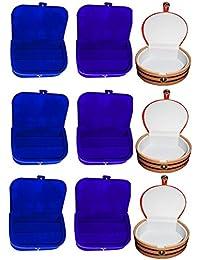 Afrose Combo 3 Pc Blue Earring Box 3 Pc Blue Ear Ring Folder 3 Pc Bangle Box Jewelry Vanity Case