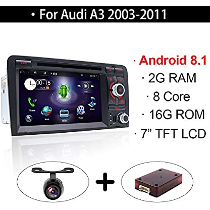 Android-81-Doppel-Din-Autoradio-mit-in-dash-GPS-Navigationssystem-fr-Audi-A3-20032011Fahrzeugradio-mit-7-Zoll-Multi-Touch-Display-mit-gratis-Kamera