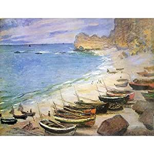 Jigsaw Puzzle - 1500 Pieces - Art - Wooden - Monet : Boats on the Beach Etretat