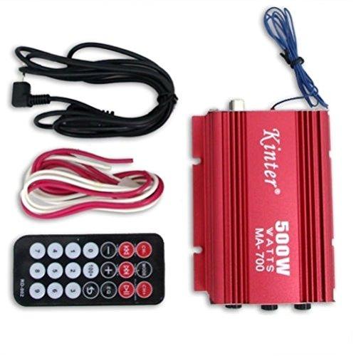 500 W RMS Amplificador de altavoz AMP para coche y moto de 2 canales U