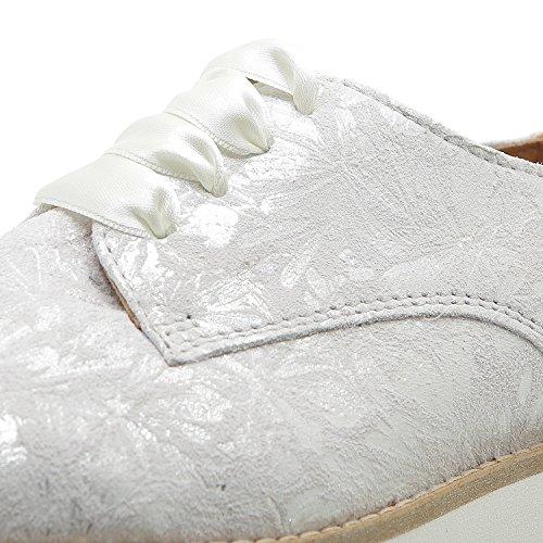 Apple of Eden Damen Plateau-Schnürschuh Holly Dekorative Nähte 2 white