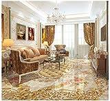 PVC Tapete 3D Wandbild Bodenfliesen Des Hotelaufzugshallenwohnzimmers Steinmusterparkett 3D Bodenmalerei 300x200cm