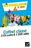 So English! Anglais 4e Éd. 2017 - Coffret CD / DVD classe