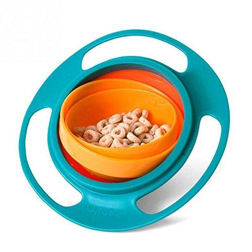 Grad Teller (EROSPA® Baby Brei-Schale 360 Grad drehbar schwenkbar Schüssel Müsli Teller Essen Mahlzeit Suppe)
